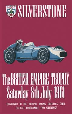 The British Empire Trophy 8th July 1961 - Silverstone Vintage Print by Silverstone