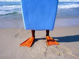 Orange Flippers, Recreio Beach, Rio de Janeiro by Silvestre Machado