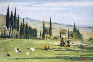 Gabbro Landscape by Silvestro Lega