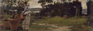 Garden at Bellariva, Circa 1884 by Silvestro Lega