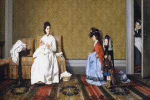 Girls Tending to Ladies by Silvestro Lega