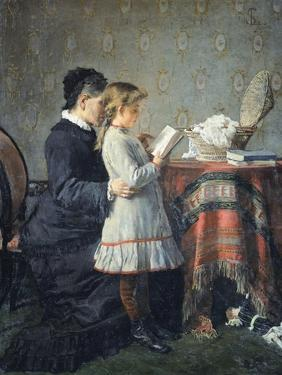 Grandmother's Lessons, 1880-1881 by Silvestro Lega