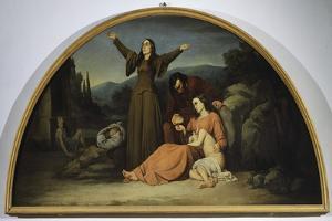 Lunette of Famine by Silvestro Lega