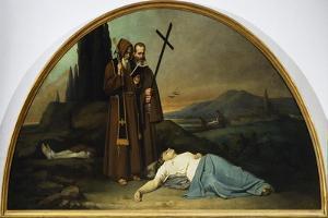 Lunette of Plague by Silvestro Lega