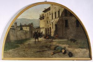 Lunette of War by Silvestro Lega