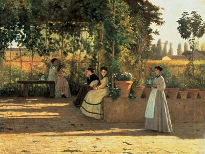 One Afternoon (or The Pergola) by Silvestro Lega