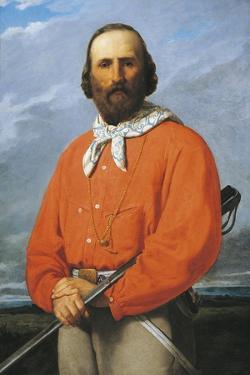 Portrait of Giuseppe Garibaldi, 1807 - 1882, Italian Military General, Patriot and Politician by Silvestro Lega