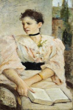 Portrait of Paola Bandini, 1893 by Silvestro Lega