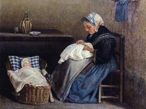 The Grandmother, 1865 by Silvestro Lega