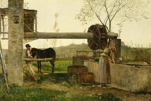 The Pumping Machine, 1863 by Silvestro Lega
