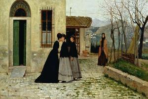 The Visit, 1868 by Silvestro Lega