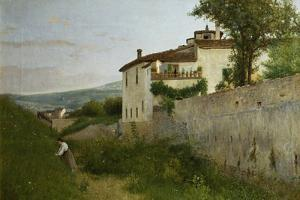 View of Piagentina, 1863 by Silvestro Lega