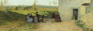 Visit to Villa, 1864 by Silvestro Lega