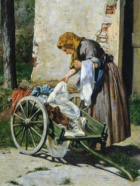 Washerwomen Near Florence, 1862 by Silvestro Lega