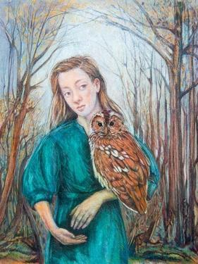 Girl with Owl, 2012 by Silvia Pastore