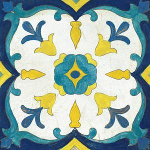 Andalucia Tiles A Blue and Yellow by Silvia Vassileva