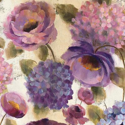 Blue and Purple Flower Song III by Silvia Vassileva