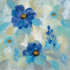 Blue Flowers Whisper II by Silvia Vassileva