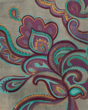 Bohemian Paisley I Aubergine by Silvia Vassileva
