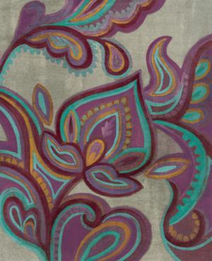 Bohemian Paisley II Aubergine by Silvia Vassileva