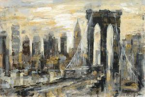 Brooklyn Bridge Gray and Gold by Silvia Vassileva