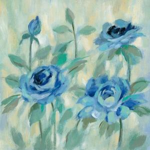 Brushy Blue Flowers II by Silvia Vassileva
