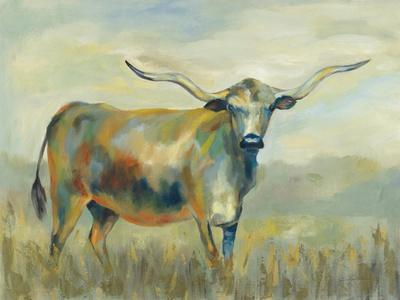 Colorful Longhorn Cow