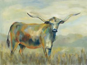 Colorful Longhorn Cow by Silvia Vassileva