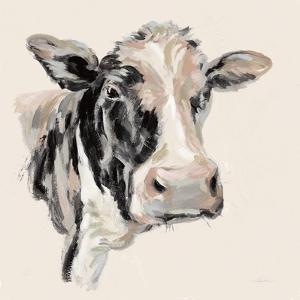 Expressionistic Cow I Neutral by Silvia Vassileva