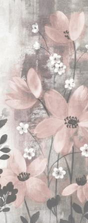 Floral Symphony Blush Gray Crop I by Silvia Vassileva