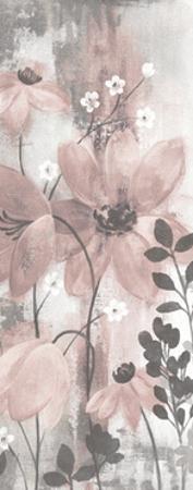 Floral Symphony Blush Gray Crop II by Silvia Vassileva