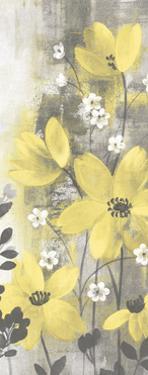 Floral Symphony Yellow Gray Crop I by Silvia Vassileva