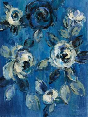 Loose Flowers on Blue I by Silvia Vassileva
