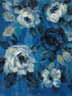 Loose Flowers on Blue II by Silvia Vassileva