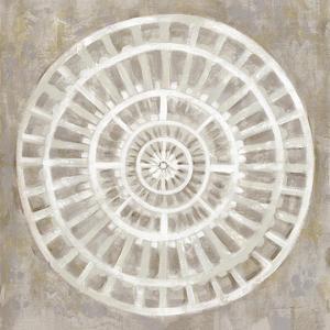 Neutral Textured Medallion Light by Silvia Vassileva