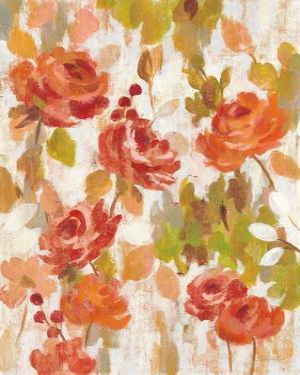 Red and Orange Brocade I by Silvia Vassileva