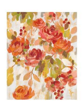 Red and Orange Brocade II by Silvia Vassileva