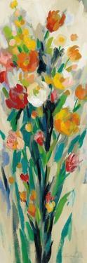 Tall Bright Flowers Cream II by Silvia Vassileva