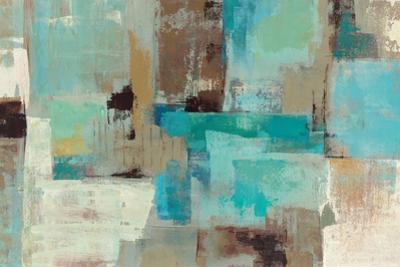 Teal and Aqua Reflections V2 by Silvia Vassileva