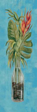 Tropical Lush II on Blue by Silvia Vassileva