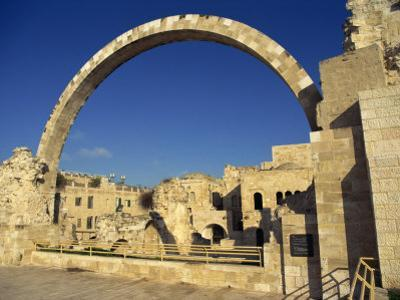 Arch of the Hurva Synagogue in the Jewish Quarter of the Old City of Jerusalem, Israel, Middle East