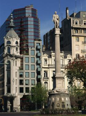 Architecture of Plaza Lavalle and Statue, Buenos Aires, Argentina, South America by Simanor Eitan