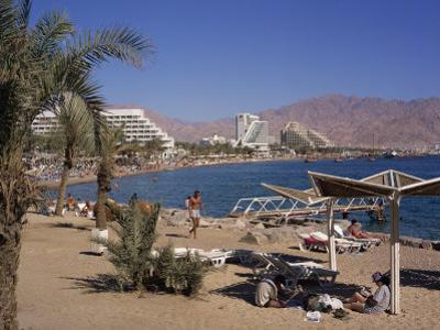 Beach and Hotels, Eilat, Israel, Middle East