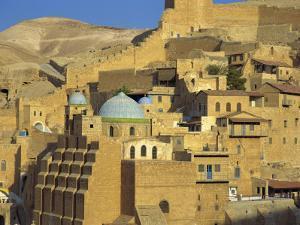 Buildings at the Mar Saba Orthodox Monastery Near Bethlehem, Judean Desert, Israel, Middle East by Simanor Eitan