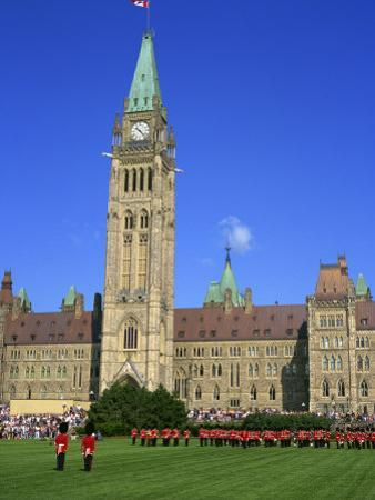 Changing of the Guard Ceremony, Government Building on Parliament Hill in Ottawa, Ontario, Canada by Simanor Eitan