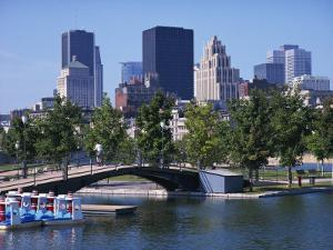City Skyline from the Old Port, Montreal, Quebec, Canada, North America by Simanor Eitan