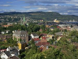 City Skyline with Cathedral and Mollenberg, Trondheim, Norway, Scandinavia, Europe by Simanor Eitan