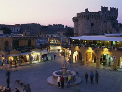 Hypocratus Square, Rhodes Town, Rhodes, Dodecanese, Greek Islands, Greece, Europe