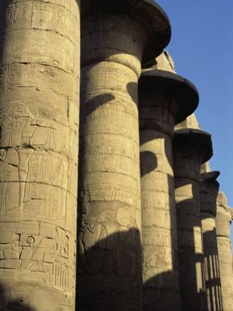 Hypostyle Hall, Great Temple of Amun, Karnak, Thebes, UNESCO World Heritage Site, Egypt