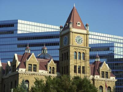 Old and New City Halls, Calgary, Alberta, Canada, North America